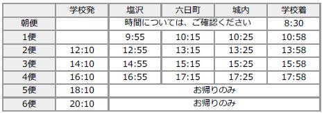 六日町・塩沢方面(夏時刻表)